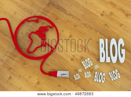 Blog Icon On Network To Home Office Desk