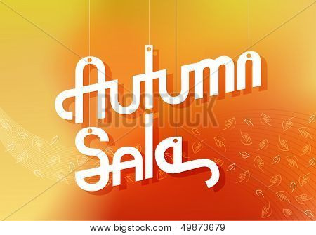 Autumn Sale Advertising Banner