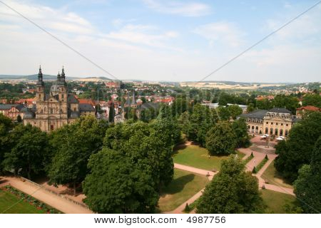 Fulda Cathedral and Skyline in Hessen Germany poster