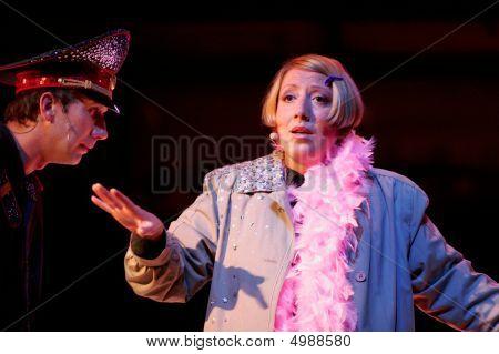 Russian Actors Igor Larin And Alina Olshanskaya
