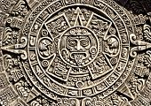 Pagan ornament of a tribe Maya close up poster