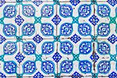 Turkish Blue Tile in Eminonu New Mosque, Istanbul poster