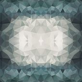 Abstract Multicolored Triangle Background, Vector Illustration Eps10, Transparent Objects poster