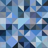Abstract triangles vector blue background. This is file of EPS10 format. poster