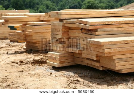 Lumber At The Job Site