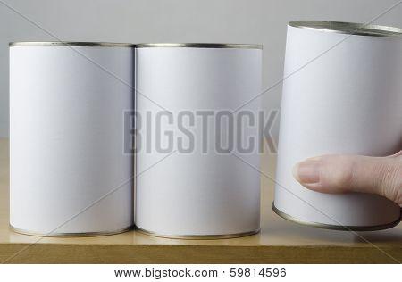 Choice Of Three Tin Cans
