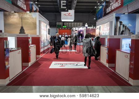 People Visiting Bit 2014, International Tourism Exchange In Milan, Italy