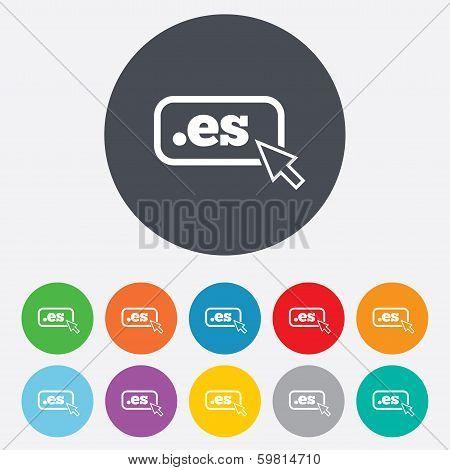 Domain ES sign icon. Top-level internet domain