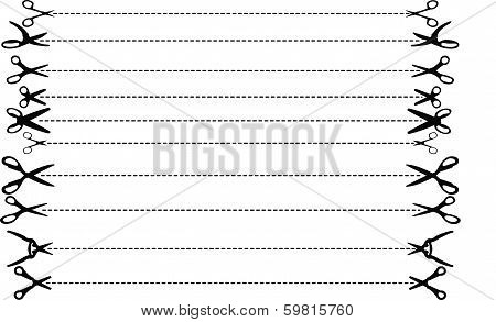 Vector Scissors With Dashed Lines 20140215-07