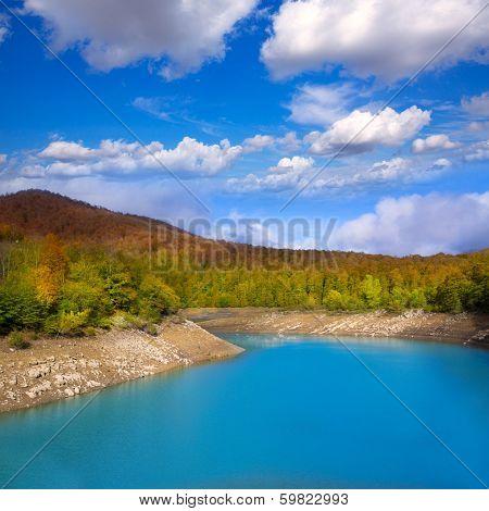 Irati Pantano de Irabia lake swamp in Navarra Pyrenees of Spain