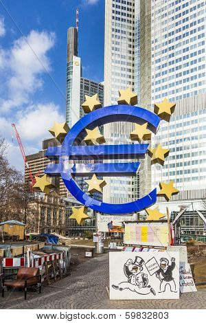Euro Sign In Frankfurt