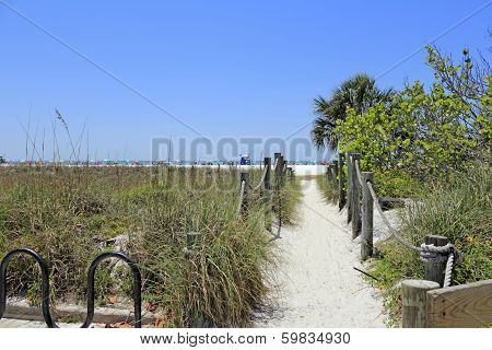 Sandy Entrance To Siesta Beach