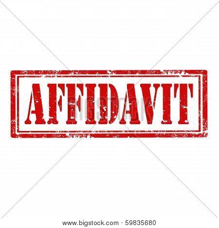 Affidavit-stamp