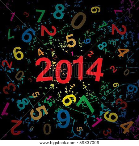 New 2014 year with digits background