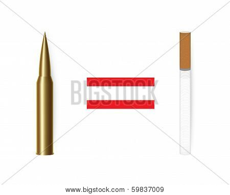 Anti tobacco concept vector.
