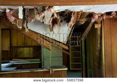Kitchen With Ceiling Falling Down