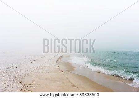 Foggy Dreamy Day At The Beach
