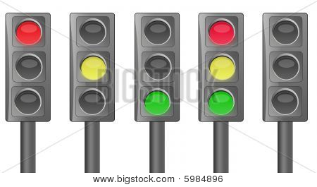 Full Traffic Light Illustration