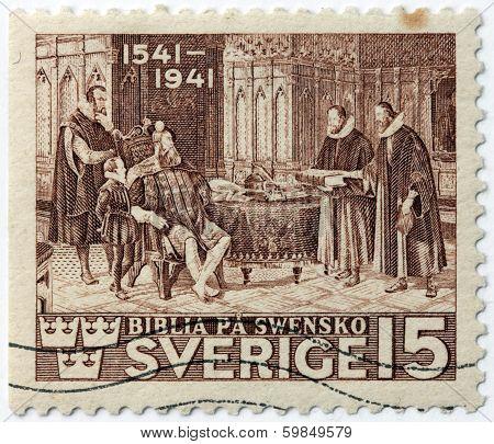Gustav Vasa Bible Stamp