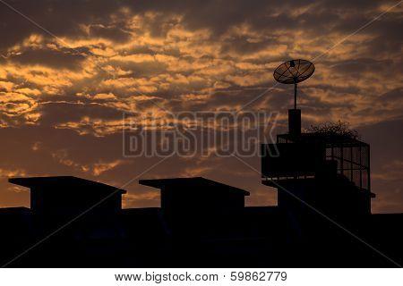 Satlellite Equipment On The Roof
