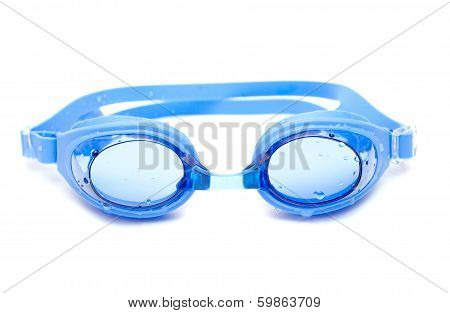 Blue Glasses For Swim With Drops