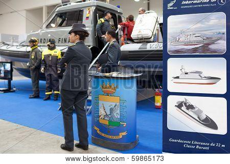 Italian Marine Financial Guard At Big Blue Expo