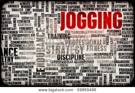 Jogging as a Endurance Fitness Hobby Sport poster