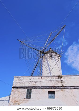 Windmill In Ciutadella On Minorca