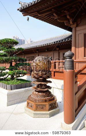 Exterior Lamp In Chinese Garden
