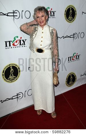 LOS ANGELES - FEB 15:  Tippi Hedren at the Annual Make-Up Artists And Hair Stylists Guild Awards at Paramount Theater on February 15, 2014 in Los Angeles, CA