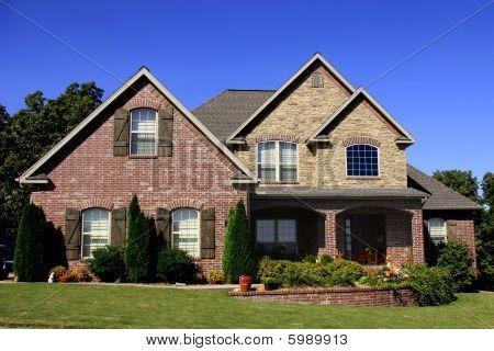 Large Upscale Brick Surburban Home