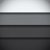 Background of four different carbon fiber patterns poster