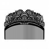 Vector Ornate Comb. Beautyful Patterned Vintage Design poster