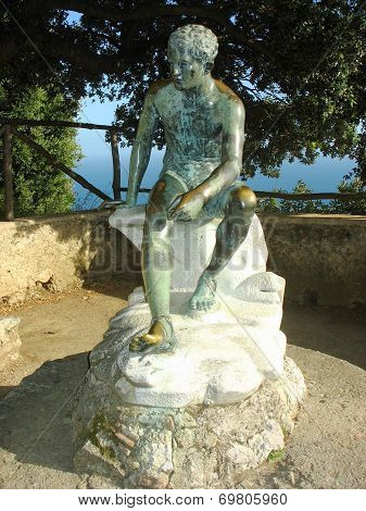 Bronze Statue in the gardens at Villa Cimbrone in Ravello
