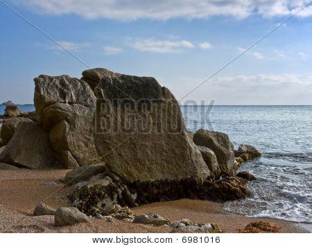 Big Stones On Seacoast.