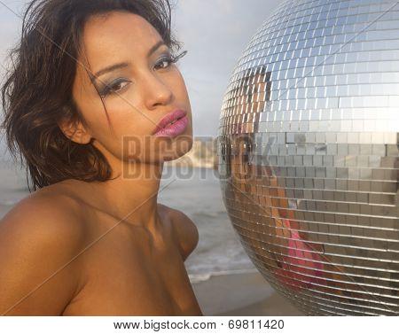 Beautiful Sexy Woman At Beach
