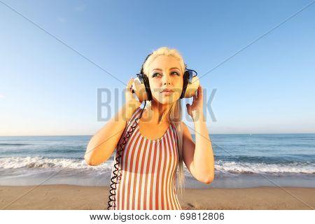 Sexy Blonde Beach Woman