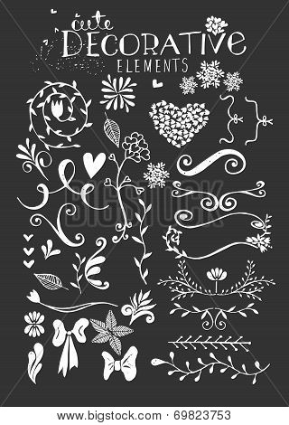 Hand Drawn Vintage Floral Vector Illustration