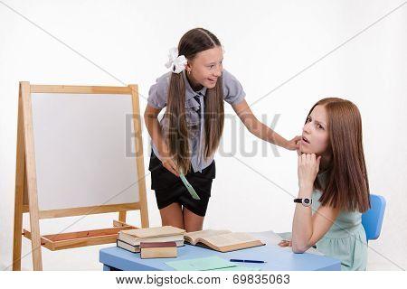 StudentWakes Sleeping Teacher