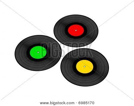 Three Vynil Records