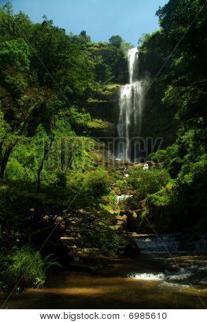 Waterfall Juan Curi Near San Gil