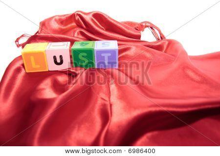 Lust Letters On Silk Night Dress