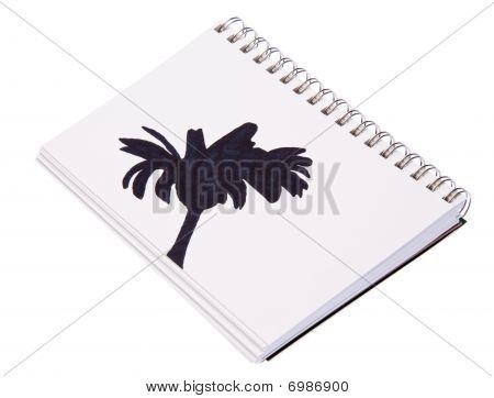 Flower Sketch In Journal
