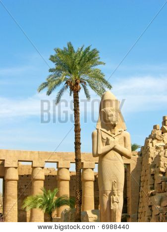 Ramses II Statue In Karnak Temple. Location: Thebean Valley, Luxor, Egypt. poster