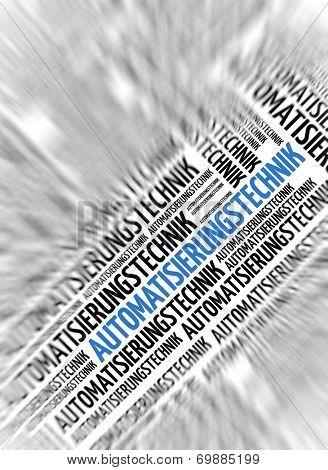 German marketing background - Automatisierungstechnik (Automation) - blur and focus