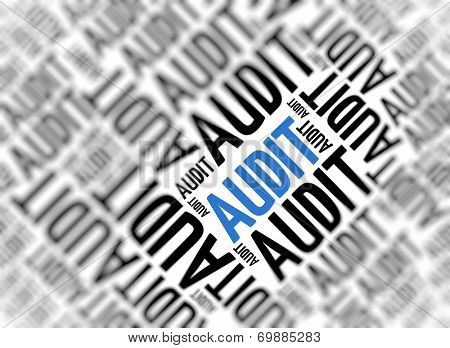 Marketing background - Audit - blur and focus