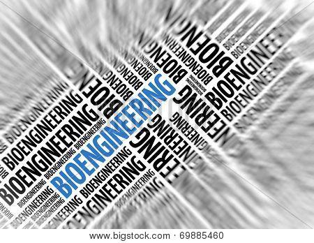 Marketing background - BIOENGINEERING - blur and focus