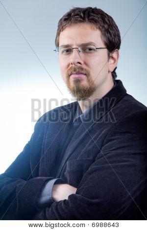 One Business Man - Confident Smart Leader
