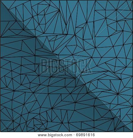 Abstract Mosaic Line Pattern With Blue Background