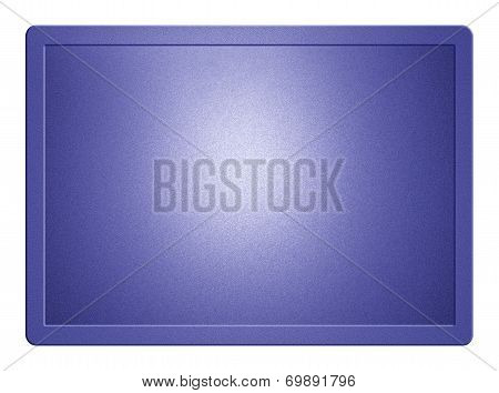 Blue Metallic Plate